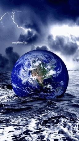 Анимация Земля плавает в океане, by morphinclips (© Bonderos), добавлено: 27.03.2016 02:08