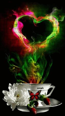 Анимация Волшебный напиток с сердечком дыма, by maryla (© Bonderos), добавлено: 28.03.2016 19:15