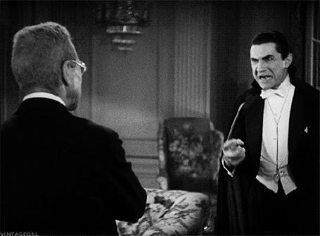 Анимация Граф Дракула / Count Dracula и Абрахам Ван Хельсинг / Abraham Van Helsing из кинофильма Дракула / Dracula