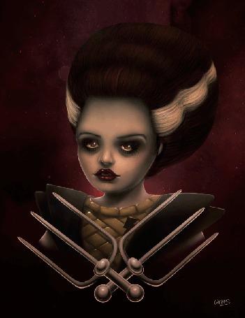 Анимация Дама с яркими глазами (© zlaya), добавлено: 30.03.2016 18:20