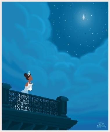 Анимация Принцесса Tiana / Тиана, из мультфильма Принцесса и лягушка / The Princess and the Frog, автор арта Jeca Martinez
