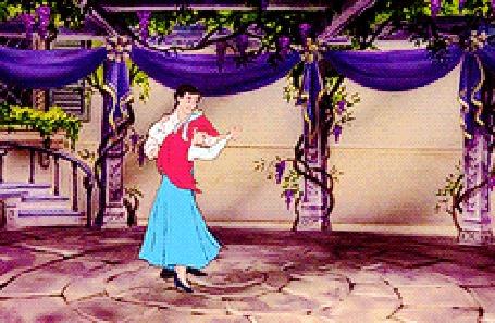 Анимация Русалочка танцует с принцем, мультфильм Русалочка / The Little Mermaid