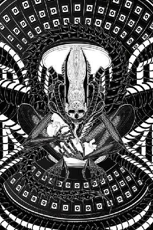 Анимация Пришелец из психоделических снов