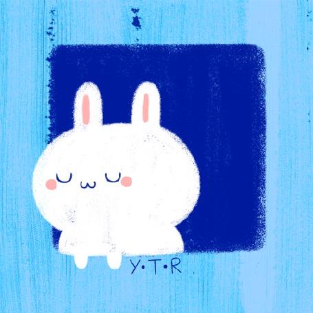 Анимация Милый заяц выглянул из окна (YTR) (© Radieschen), добавлено: 03.04.2016 08:41