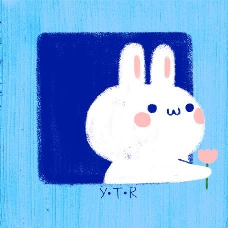 Анимация Заяц дарит тюльпан зайцу из соседнего окошка (YTR)