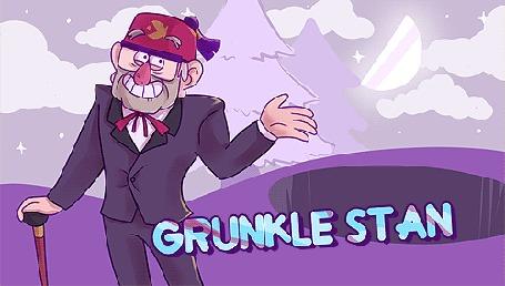 Анимация Gruncle Stan / Дядя Стэн, персонаж мультсериала Гравити Фолз / Gravity Falls