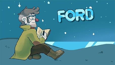 Анимация Ford / Форд записывает что-то, глядя на небо, персонаж мультсериала Гравити Фолз / Gravity Falls (© Radieschen), добавлено: 03.04.2016 08:50