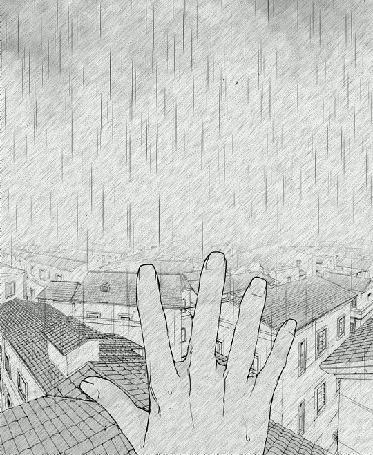 Анимация Рука на фоне города под дождем (© zmeiy), добавлено: 03.04.2016 10:38