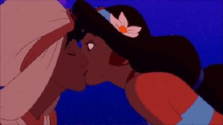 Анимация Поцелуй Алладина / Aladdin и Жасмин / Jasmine, мультфильм Алладин / Aladdin