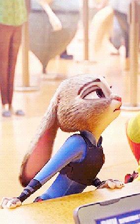 Анимация Крольчиха Джуди Хопс / Judy Hopps очень недовольна, мультфильм Зверополис / Zootopia