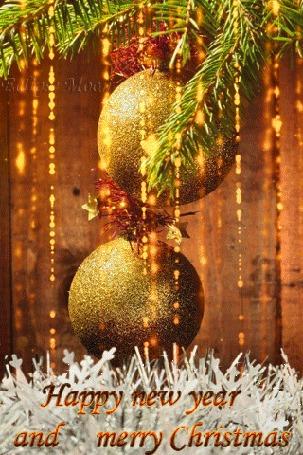 Анимация Шары весят на елке, (Happy new year and merry Christmas / Счастливого Нового года и рождества) (Eclipse Moon) (© Eclipse Moon), добавлено: 05.04.2016 16:29