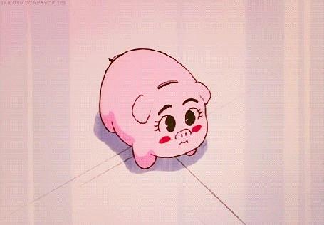 Анимация Сейлор Мун / Sailor Moon разбивает скипетром свинью-копилку, и считает мелочь (Лунная призма, дай мне денег)