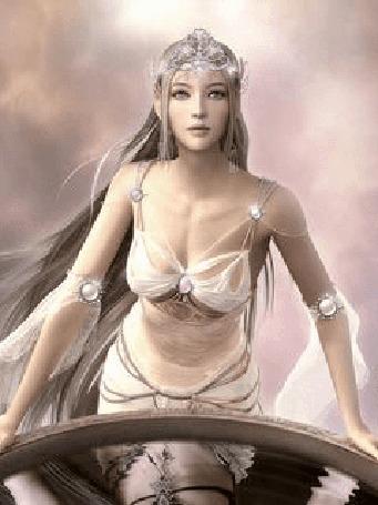 Анимация Девушка у колодца из игры Shaiya Light and Darkness