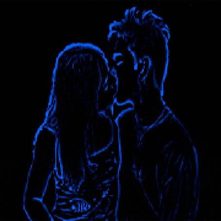 Гиф поцелуй на ночь анимашки
