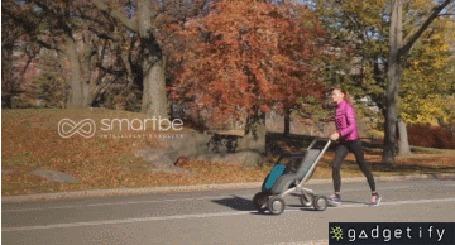 Анимация Инновационная разработка - коляска, которая сама следует за мамой (Gadgetify, smartbe)