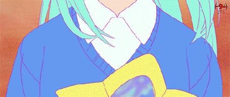 Анимация Кадры из клипа Hibiki Yoshizaki feat. Daoko - Girl / Девушка пускает звездные пузыри из волшебной палочки