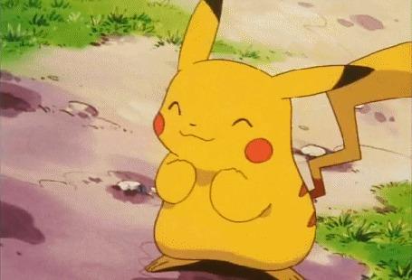 Анимация Пикачу / Pikachu весело танцует