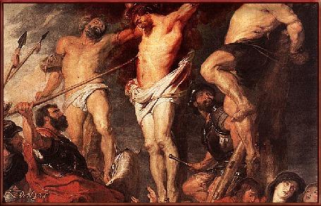 Анимация Распятый на кресте Иисус Христос. Из сердца, проткнутого копьем, капает кровь. Страстная пятница