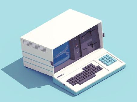Анимация Открывается коробка и появляется экран и клавиатура