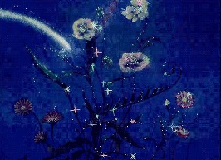 Анимация Куст роз облетает звезда