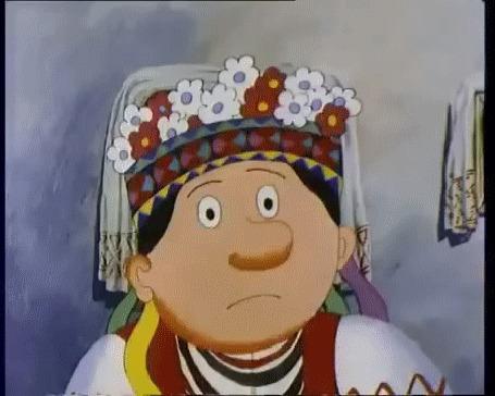 Анимация Испуганная хохлушка-невеста из мультфильма Жил-был пес