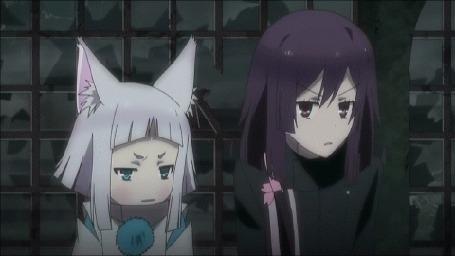 Анимация Кон / Kon и Нацумэ Цучимикадо / Natsume Tsuchimikado из аниме Токийские вороны / Tokyo Ravens