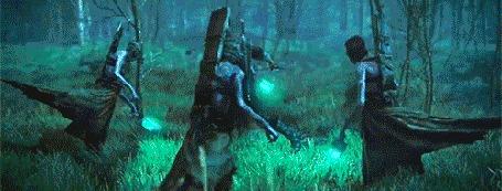 Анимация Сражение в лесу, игра Ведьмак 3 / Wicher 3