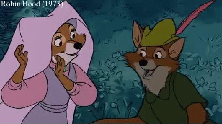 Анимация Кадры из мультфильмов AristoCat (1970), Robin Hood (1973)