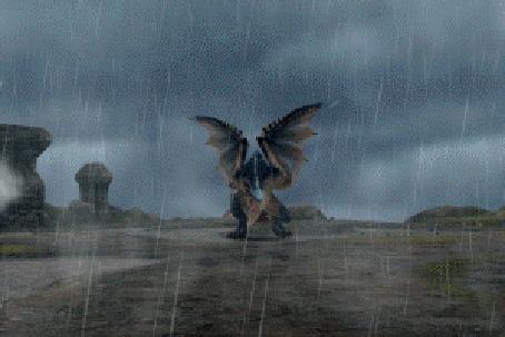 Анимация Дракон из игры Monster Hunter Frontier