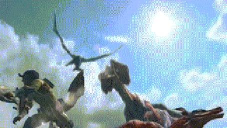Анимация Драконы из игры Monster Hunter Ultimate 3