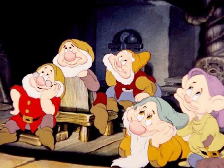 Анимация Семь гномов из мультфильма Белоснежка и семь гномов