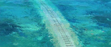 Анимация Железная дорога под водой. Кадры из аниме Унесенные призраками / Sen to Chihiro no Kamikakushi / Spirited Away