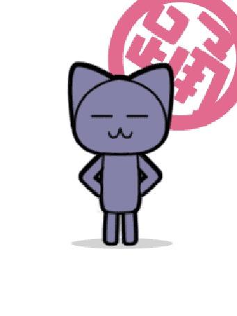 Анимация Серый котик танцует