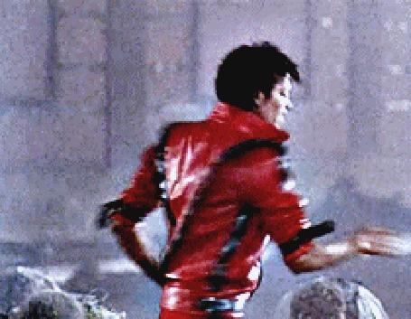 Анимация Майкл Джексон поет и кружится в темпераментном танце