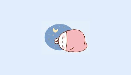 Анимация Molang rabbit / Кролик Моланг сладко спит под одеялом