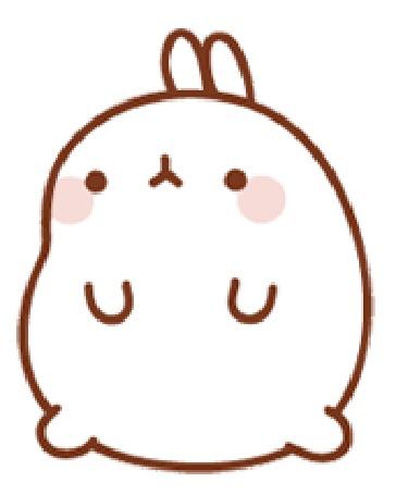 Анимация Molang rabbit / Кролик Моланг смотрит в сторону