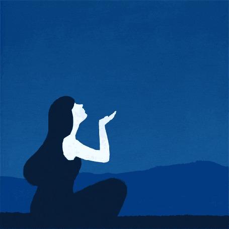 Анимация Девушка с ладони дует на месяц и улетая вверх он становится полной луной, by Joey Guidone (© Иосия), добавлено: 14.06.2016 13:54