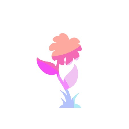 Анимация Семечко упало на землю и из него вырос прекрасный цветок