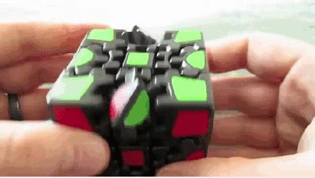 Анимация Новый вариант кубика Рубика (Move 2: R4)