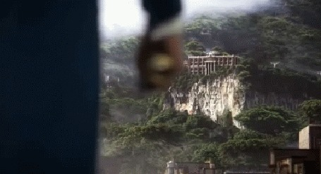 Анимация Замок с тайной комнатой из игры Dishonored 2