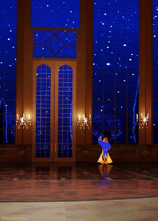 Анимация Красавица и чудовище танцуют во дворце