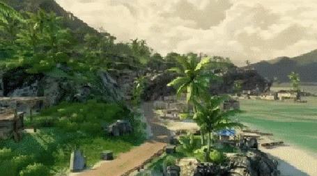 Анимация Красивая природа острова из ролика ТОП 10 самых красивых игр