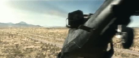Анимация Вертолет разворачивается вкруговую