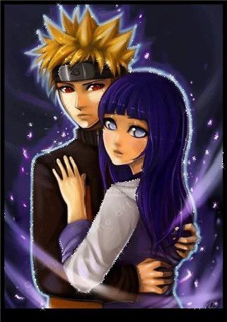 Анимация Влюбленная пара в сиянии