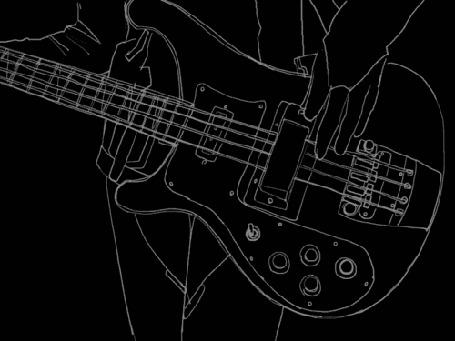 Анимация Парень играет на гитаре