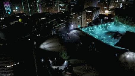 Анимация Город Детройт ночью