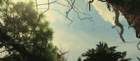 Анимация Парень делает предложение девушке в доисторическом лесу, из клипа MBAND - Она вернeтся
