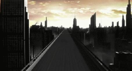 Анимация Девушка (актриса Эван Рэйчел Вуд) разгоняется на авто, пламя от колес