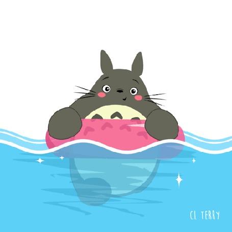 Анимация Totoro / Тоторо из аниме Tonari no Totoro / Мой сосед Тоторо, by CL Terry