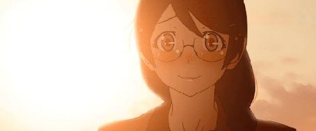 Анимация Цубаса Ханэкава / Tsubasa Hanekawa из аниме Истории монстров / Bakemonogatari